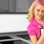 Küchenrückwand < Ziegelwand Weiß > Premium Hart-PVC 0, 4 mm selbstklebend - Direkt auf die Fliesen