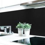 Küchenrückwand Webstruktur Schwarz Premium Hart-PVC 0, 4 mm selbstklebend - Direkt auf die Fliesen