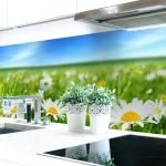 Küchenrückwand Blumenwiese Premium Hart-PVC 0, 4 mm selbstklebend - Direkt auf die Fliesen