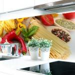 Küchenrückwand Pasta Love Premium Hart-PVC 0, 4 mm selbstklebend - Direkt auf die Fliesen