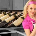 Küchenrückwand < Wine Galery > Premium Hart-PVC 0, 4 mm selbstklebend - Direkt auf die Fliesen