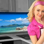 Küchenrückwand < Strand > Premium Hart-PVC 0, 4 mm selbstklebend - Direkt auf die Fliesen