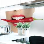 Küchenrückwand Chilli Mund Premium Hart-PVC 0, 4 mm selbstklebend - Direkt auf die Fliesen