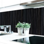 Küchenrückwand Papierstruktur Schwarz Premium Hart-PVC 0, 4 mm selbstklebend - Direkt auf die Fliesen