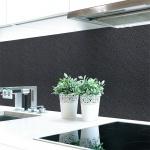 Küchenrückwand Raufaser Anthrazit Premium Hart-PVC 0, 4 mm selbstklebend - Direkt auf die Fliesen