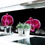Küchenrückwand Orchideen Pink Premium Hart-PVC 0, 4 mm selbstklebend - Direkt auf die Fliesen