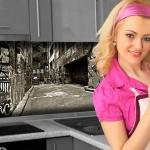 Küchenrückwand < Graffiti > Premium Hart-PVC 0, 4 mm selbstklebend - Direkt auf die Fliesen