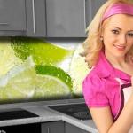 Küchenrückwand < Fresh Lemon > Premium Hart-PVC 0, 4 mm selbstklebend - Direkt auf die Fliesen