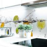 Küchenrückwand Frucht Wasser Premium Hart-PVC 0, 4 mm selbstklebend - Direkt auf die Fliesen