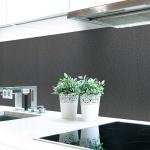 Küchenrückwand Lederstruktur Anthrazit Premium Hart-PVC 0, 4 mm selbstklebend - Direkt auf die Fliesen