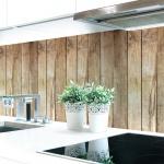 Küchenrückwand Bretterwand Hütte Premium Hart-PVC 0, 4 mm selbstklebend - Direkt auf die Fliesen