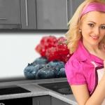 Küchenrückwand < Beeren > Premium Hart-PVC 0, 4 mm selbstklebend - Direkt auf die Fliesen