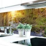 Küchenrückwand Waldbach Premium Hart-PVC 0, 4 mm selbstklebend - Direkt auf die Fliesen