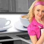 Küchenrückwand < Kaffee Tasse > Premium Hart-PVC 0, 4 mm selbstklebend - Direkt auf die Fliesen
