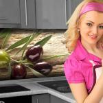 Küchenrückwand < Oliven > Premium Hart-PVC 0, 4 mm selbstklebend - Direkt auf die Fliesen