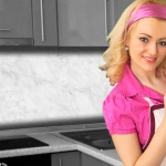 Küchenrückwand < Marmor Weiß > Premium Hart-PVC 0, 4 mm selbstklebend - Direkt auf die Fliesen
