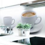 Küchenrückwand Kaffee Tasse Premium Hart-PVC 0, 4 mm selbstklebend - Direkt auf die Fliesen