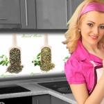 Küchenrückwand < Küchen Kräuter > Premium Hart-PVC 0, 4 mm selbstklebend - Direkt auf die Fliesen