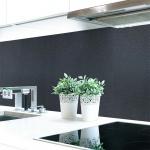 Küchenrückwand Graphit Schwarz Premium Hart-PVC 0, 4 mm selbstklebend - Direkt auf die Fliesen