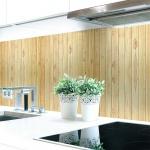 Küchenrückwand Holzwand Hell Premium Hart-PVC 0, 4 mm selbstklebend - Direkt auf die Fliesen