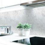 Küchenrückwand Marmor Weiß Premium Hart-PVC 0, 4 mm selbstklebend - Direkt auf die Fliesen