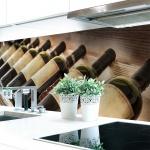 Küchenrückwand Wine Galery Premium Hart-PVC 0, 4 mm selbstklebend - Direkt auf die Fliesen