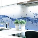 Küchenrückwand Wasser Welle Premium Hart-PVC 0, 4 mm selbstklebend - Direkt auf die Fliesen