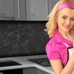 Küchenrückwand < Schiefer Schwarz > Premium Hart-PVC 0, 4 mm selbstklebend - Direkt auf die Fliesen