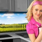 Küchenrückwand < Provence > Premium Hart-PVC 0, 4 mm selbstklebend - Direkt auf die Fliesen