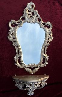 Konsole Spiegelablage Wandspiegel mit 50 X 76 ANTIK BAROCK Badspiegel Gold - Vorschau 5