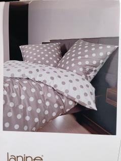 Bettwäsche 135x200 +Kissen 80x80 Janine Feinbiber Taube-Weiß 100% Baumwolle