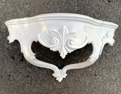 Wandkonsole Weiß Barock Wandregal 30x16 Spiegelkonsole Antik Konsole ablage neu