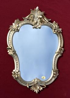 Wandspiegel Alt Silber Antik Retro Spiegel OVAL Barock 50X35 Badspiegel c444
