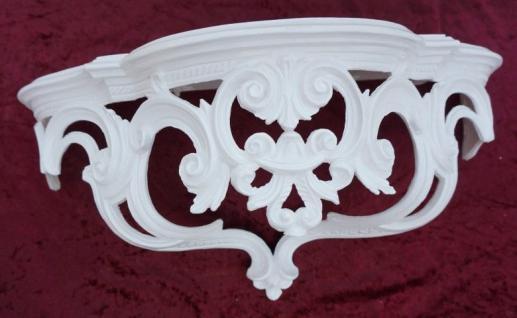 Wandkonsole Antik Weiß BAROCK Wandregal Spiegelkonsole 50x20x24 Ornamente Cp72