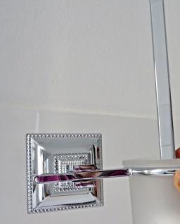 WC Garnitur 41cm Toilettenbürste poliertes Messing Silber Klobürstenhalter
