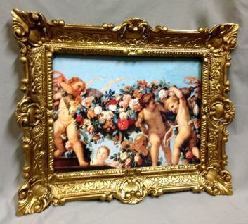 Schutzengel Engel Bild 56x46 Heiligen Christlichen Bild Wandbild Rahmen Angel