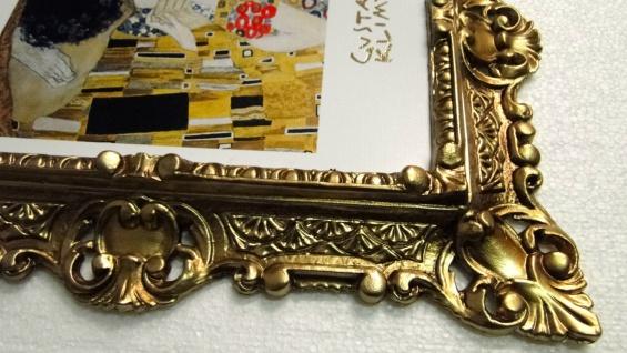 Bilder mit Rahmen Kunstdruck Gustav Klimmt der Kuss 45x37 Barockrahmen - Vorschau 3