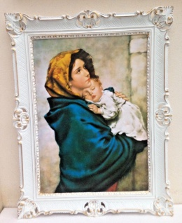 Bild mit Rahmen Gemälde Maria Wege 90x70cmHeiligenbilder Jesus Christus Geburt