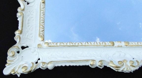 Wandspiegel Spiegel Barock Badspiegel Weiß-Gold Rechteckig 57x47 Antik Mirror - Vorschau 2