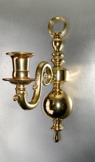 Wandkerzenleuchter Messing Klavierleuchter Kerzenhalter Gold Massiv 30cm