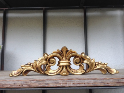 2 x Wanddeko Barock Wandbehang Gold Deko 25x6, 5 Wandrelief türbogen Antik C1537