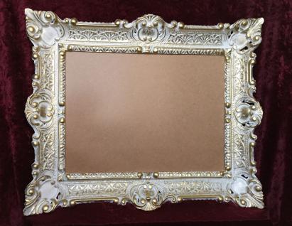 Bilderrahmen Weiß-Gold mit glas 56x46 Gemälde rahmen Antik /Fotorahmen 30x40 - Vorschau 2