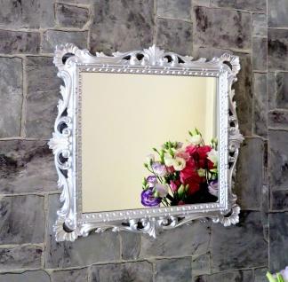 Wandspiegel Barock Silber Hochglanz 38x36 Kosmetikspiegel Antik Badspiegel - Vorschau 2