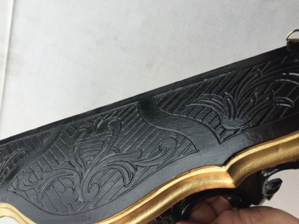 Wandkonsole Antik Schwarz-gold Spiegelkonsolen BAROCK Wandregal ANTIK 45x21x13 - Vorschau 5