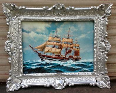 Gemälde Schiffe 56x46 cm Kunstdruck Bild Wandbild Meer Segelschiff Maritime