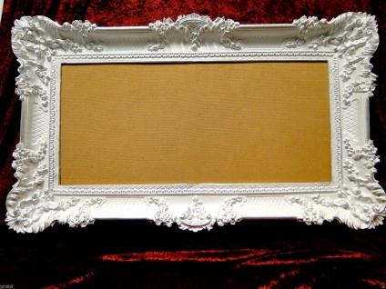 Bilderrahmen Weiß Silber Barock Gemälderahmen Prunk 97x57 Fotorahmen Antik - Vorschau 2