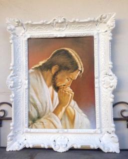 Jesus Bild Jesus Christus Goldschimmel 56x46 Heilige Kunstdruck Bild Wandbild