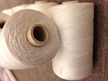 4 x Nähgarn 1000 Meter Polyester/Baumwolle Zelt Nähgarn Weiß 25/3 Reißfest NEU - Vorschau 4