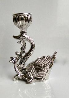 Kerzenleuchter Silber Tischleuchter Kerzenständer Kerzenhalter Schwan Leuchter