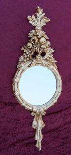 Wandspiegel oval Rund Antik Badspiegel 62X23 Shabby Barock Spiegel c500